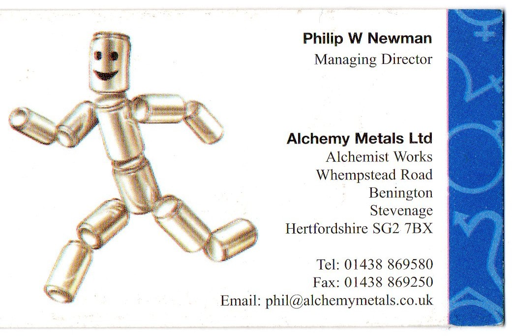 Alchemy Metals Ltd 01438 869580
